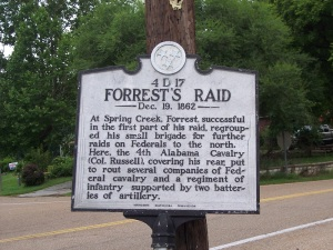 Forests Raid Historical Marker