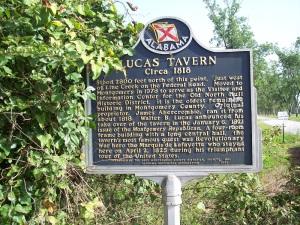 Lucas Tavern Historical Marker
