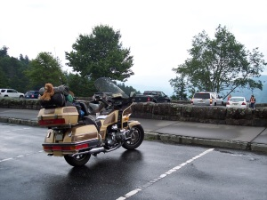 Honda Goldwing At Newfound Gap - 27JUN2014