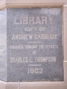 Andrew Carnegie Plaque