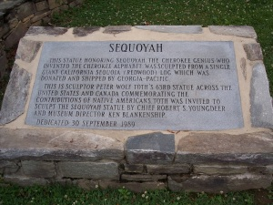 Sequoyah Plaque