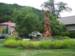 Sequoyah Statue - Side View